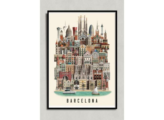 Poster Barcelona 50x70 Martin