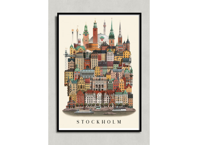 Poster Stockholm 50x70