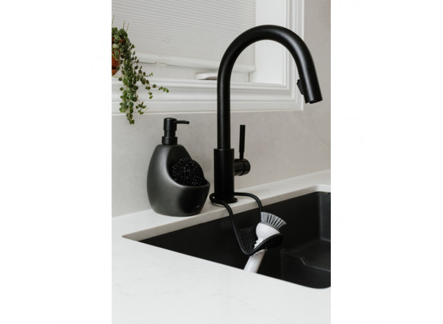 Ceramic soap pump - black