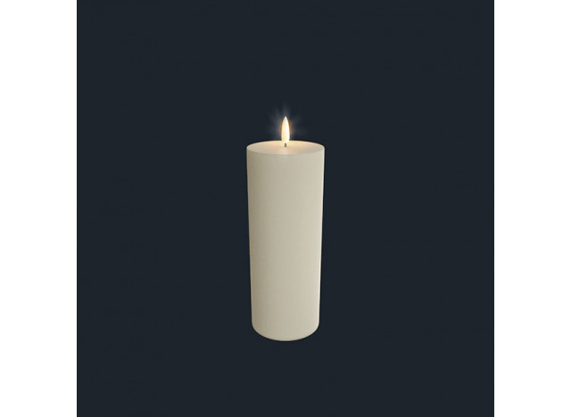 Pillar Candle LED Ivory Uyuni 7,8x23,1cm