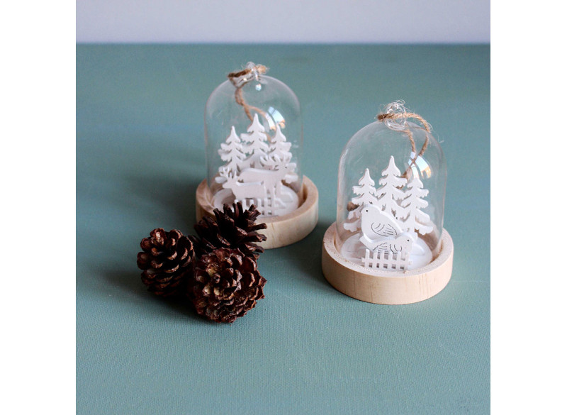 Glas ornament ass.