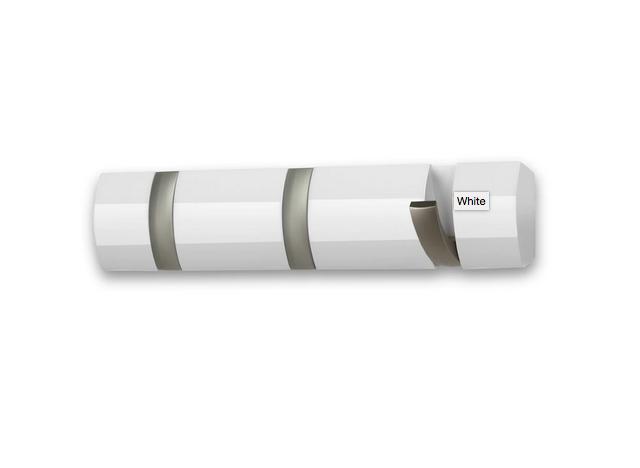 Knagerække Flip 3-hook Hvid