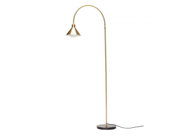 Floorlamp brass with marblefoot