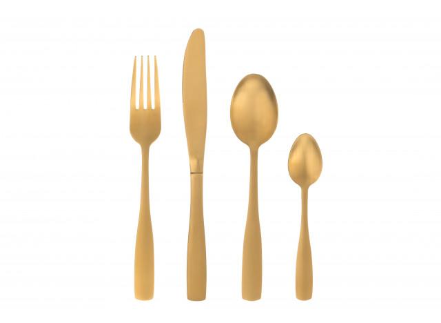 Bestik 16 dele Champagn Gold