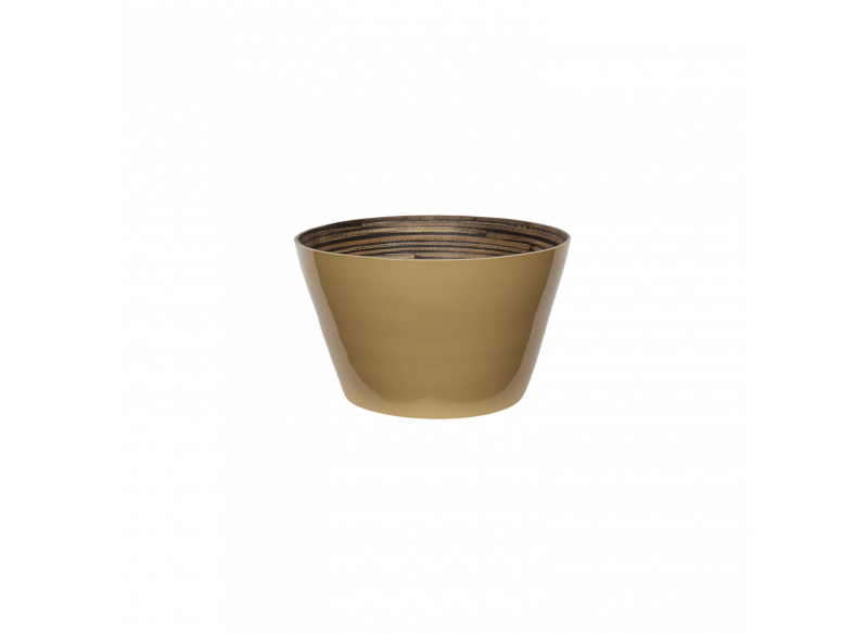 Bamboo salad bowl Wheaten