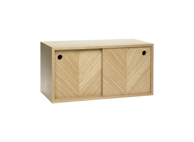 Shelf with storage Oak wood 40x20x20cm