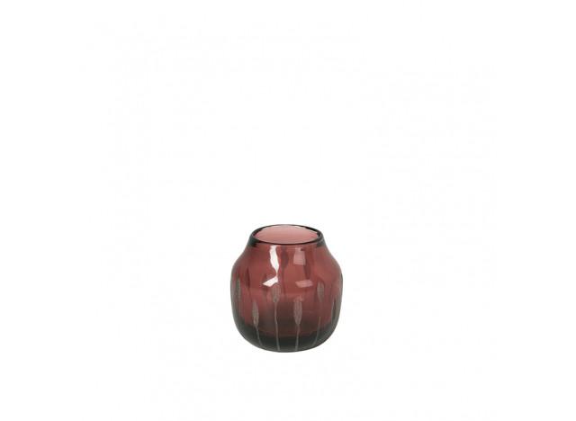 Vase Shape Glas Plum