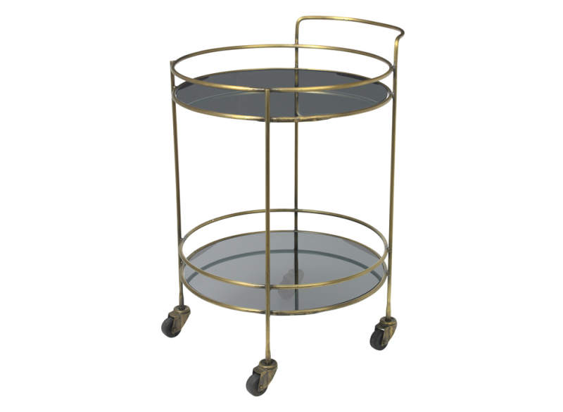 Black Bartable, round