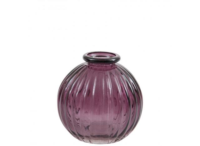 Vase Mini Rund Mørk Lilla