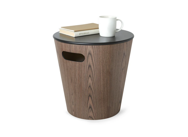 Woodrow Storage Stool SortValnød