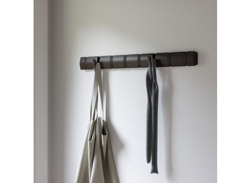 Coat rack Flip 8 Hook BlkWal