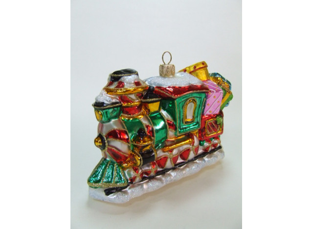 Julekugle candy train