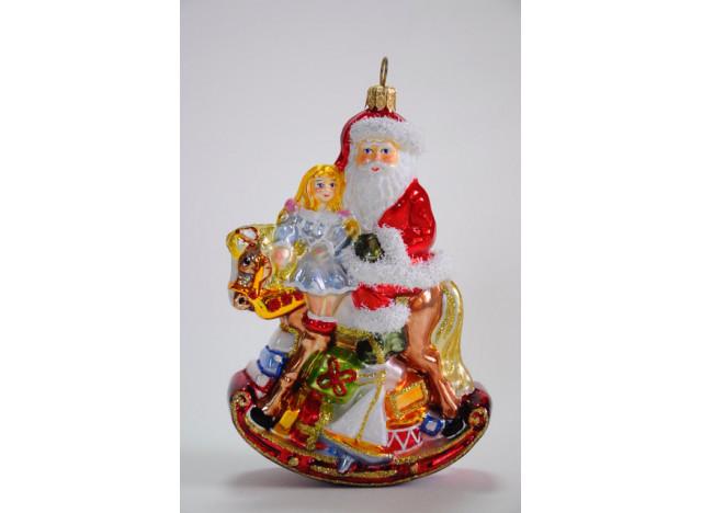 Christmas Ornament Santa on Rocking Horse