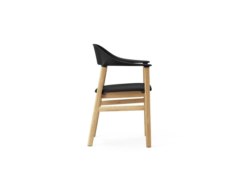 Chair Herit Oak Spectrum leather w armrest