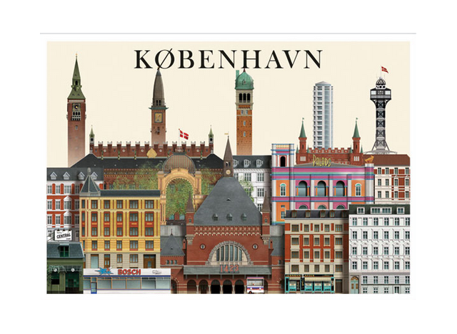 Copenhagen 1 - A5 - Postcard