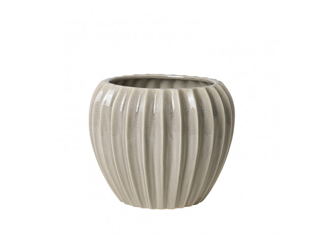 Flower Pot Wide Small Creme