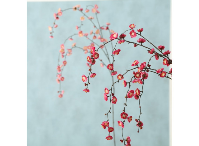 Kunstig gren i kirsebærblomst H130
