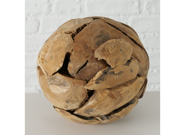 Deko bold i Teak træ Ø20cm