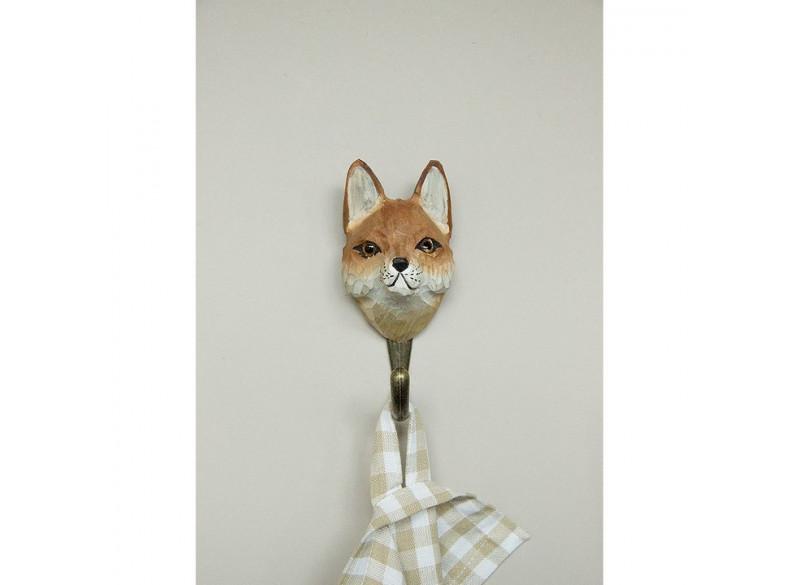 Handcarved hook Red Fox