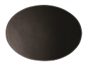 Placemat Leather Oval Black