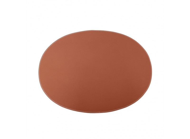 Dækkeserviet Cognac Læder Oval