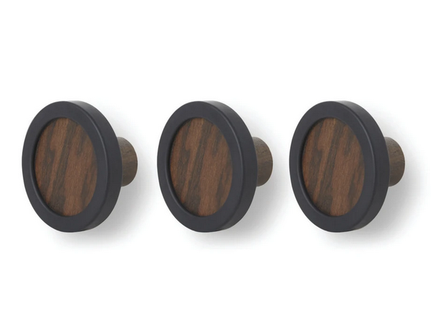 Hub Hook 3pc Black-Walnut