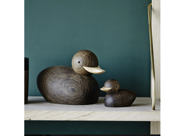 Large Duck in smoked oak - Lucie Kaas