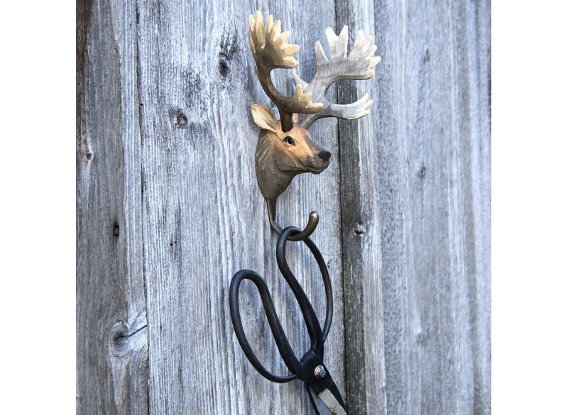Handcarved hook Red Deer