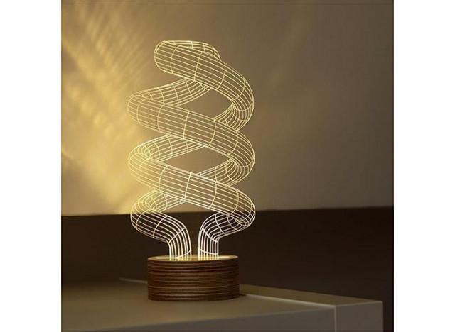Bulbing Spiral LED Lamp