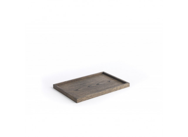 Tray square medium black oak